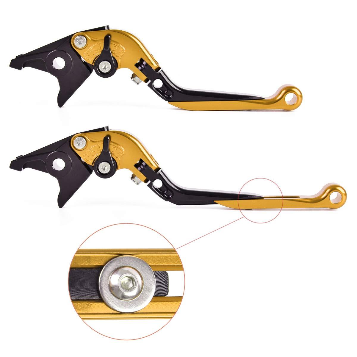 Auzkong Palancas de embrague de freno CNC plegables y ajustables para HONDA XL1000 Varadero//XL1000 ABS 1999-2013 Rojo-Negro-Rojo
