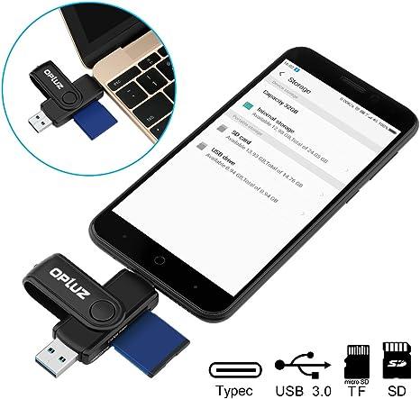 Lector de tarjetas USB 3.0 puerto Micro USB OTG adaptador, 360 ...