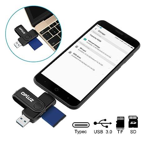Lector de tarjetas USB 3.0 puerto Micro USB OTG adaptador ...