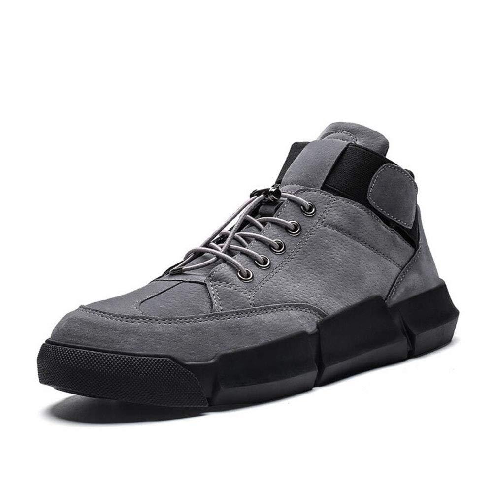 YAXUAN 2019 Winter Männer Casual Schuhe Korean Youth Trend Mens Schuhe Wilde Winter Studenten Casual Flut Schuhe Plus Samt Baumwolle Schuhe (Farbe   Grau, Größe   44)