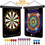 Rabosky Magnetic Dart Board for Kids, Interstellar Adventure Dart Game Set, Best Kids Toy Gift for Boys Indoor Outdoor Games, Include 12 Darts & 6 Extra Flights