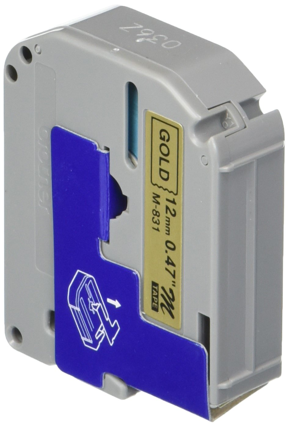 Brother M831 Non-Laminated Tape Cartridge - 0.5'' x 26' - 1 x Tape - Golden