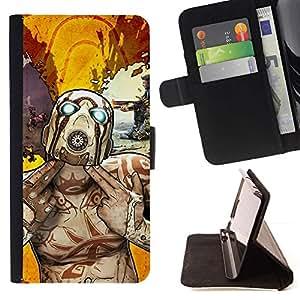 Momo Phone Case / Flip Funda de Cuero Case Cover - Psycho Tf Character - Team F0Rtress - HTC One M7