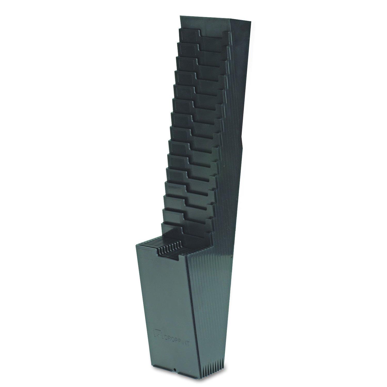 Acroprint 81-0118-000 25-Pocket Expanding Time Card Rack, Plastic, Black