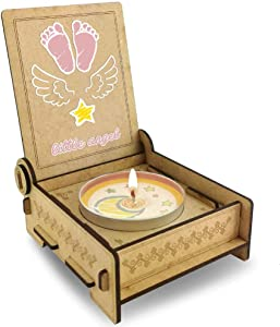 Trost LICHT Baby Loss Candle, miscarriage Comfort Candle for Angel Babies in Wooden Box, Loss of Baby Sympathy Gift, Standard (Pink)