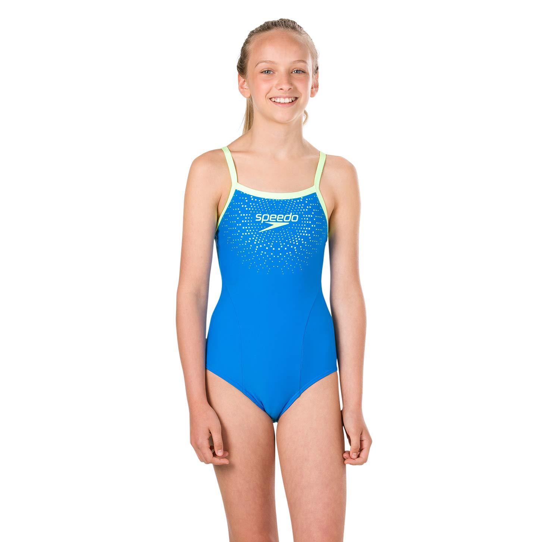 Speedo Gala Logo Thinstrap Muscleback Costume da Bagno Bambina 8-11343B344 Mare e piscina Abbigliamento sportivo