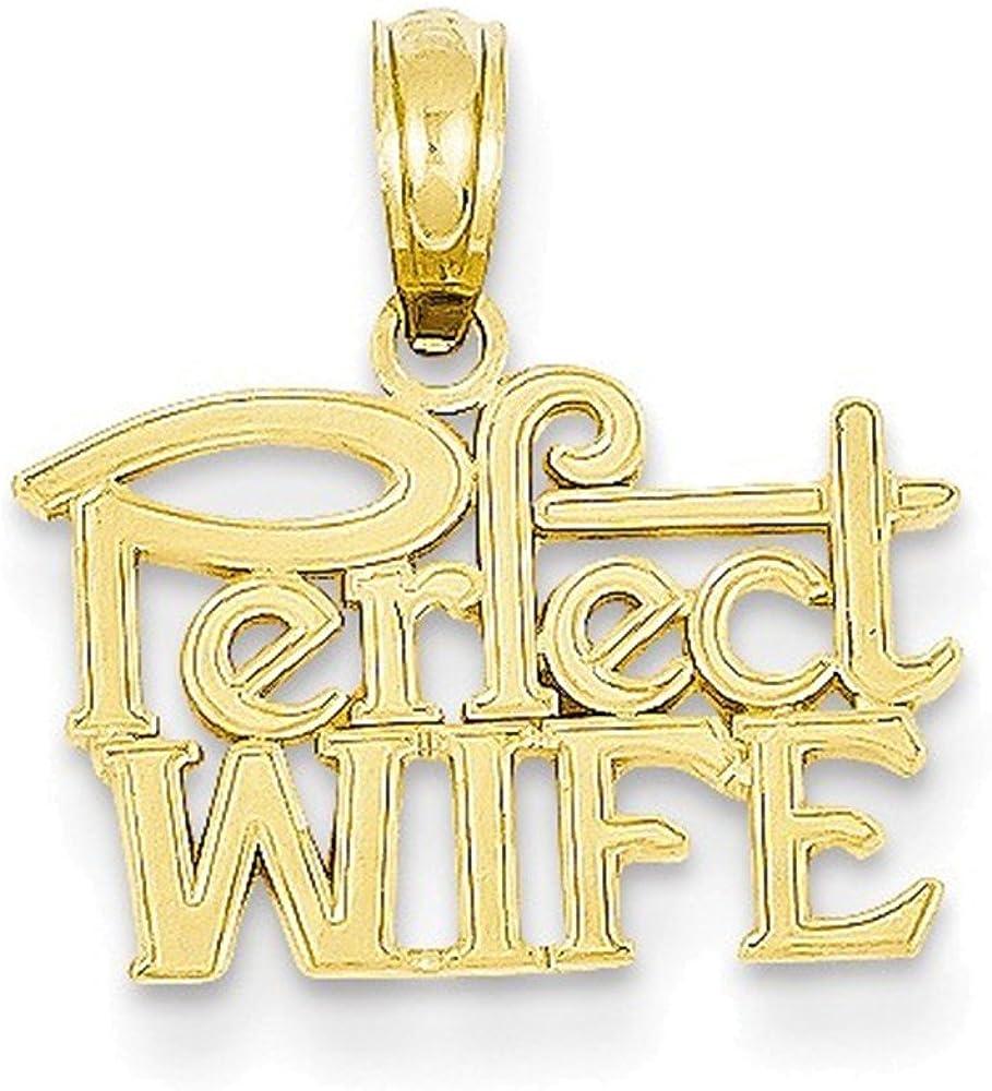 14k Perfect Wife Pendant