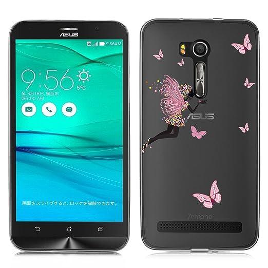2 opinioni per Asus ZenFone Go ZB551KL Cover , YIGA Fata Fiore Farfalla Trasparente Silicone