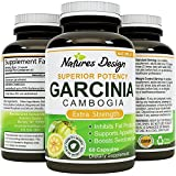 Purest Garcinia Cambogia Extract with 95%HCA - Highest Grade & Quality - Fat Burner & Carb Blocker - Potent Weight Loss Supplement for Men & Women - 60 Capsules - USA Made by Natures Design