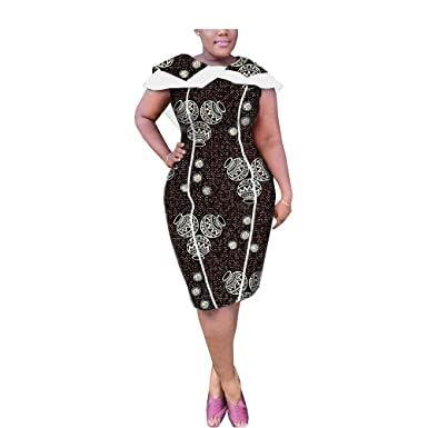 African Dresses for Women Plus Size Traditional Clothing Womem Print ...