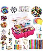 Caydo Kids Art and Crafts Supplies, Toddler DIY Craft Art Supplies Set