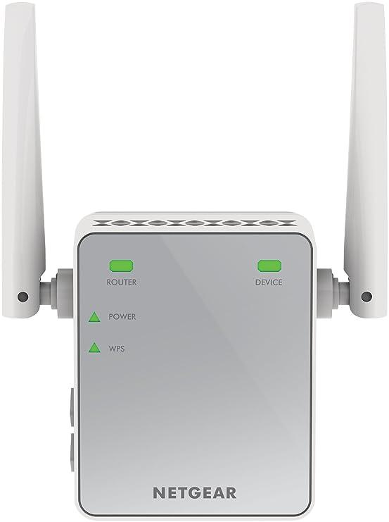 NETGEAR EX2700-100PES AC750 WLAN Repeater (300 Mbit/s, WLAN Verstärker, WPS, 1x Ethernet Port, universell kompatibel mit jede