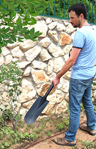 TABOR TOOLS J213 Trench Digging Spade, Drain Spade, Shovel with Long Narrow Blade and and Comfortable D-Grip 31'' Fiberglass Handle (Trench Shovel) by TABOR TOOLS (Image #1)