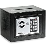 VonHaus Solid Steel Safe Small   6.3lbs Compact Electronic Digital Home And Personal Security Safe   Keypad Lock, Posting Slot   Includes 4 X AA Batteries, Manual Override Key, Fixing Kit, Black