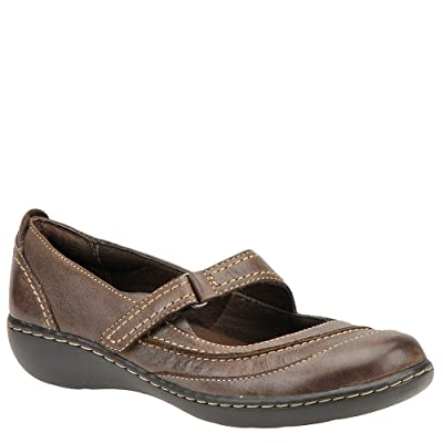 Clarks Women's Ashland Avenue Mary Janes,Brown Leather,7 M US