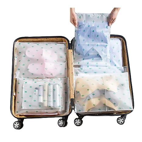 Vankra 10 Bolsas de Almacenamiento para Ropa, Impermeables, de plástico, con Cierre de Cremallera, Transparentes, Number 4