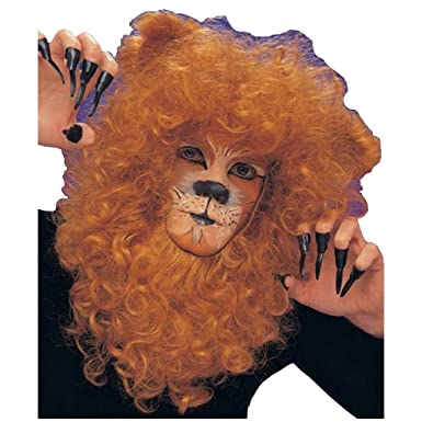 4777a9773 Amazon.com: MyPartyShirt Lion Mane Adult Wig: Clothing
