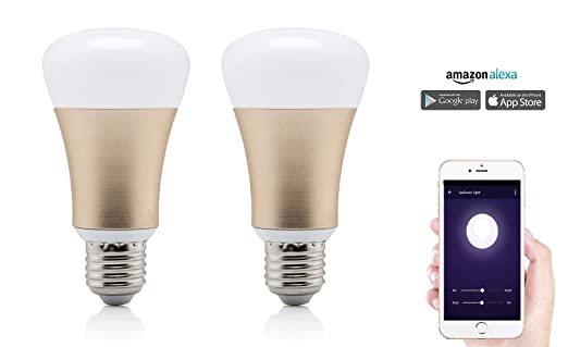 Smart Home LED Light Bulb works with Alexa by Wasserstein 40W  Equivalent Dimmable  Colorful. Smart Home LED Light Bulb works with Alexa by Wasserstein 40W