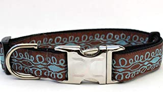 product image for Diva Dog UBS75 Calligraphy Brown Dog Collar - Extra Large Sized