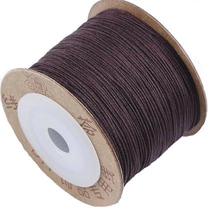 Satin DIY Braid Rattail Cord Knotting Thread Rope Beading Jewelry Design Crafts
