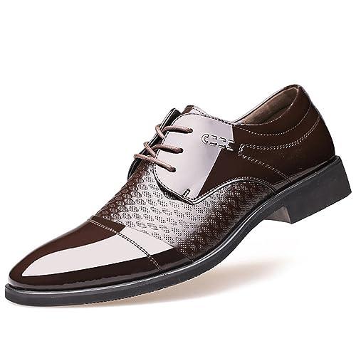 XIGUAFR Homme Chaussure a Lacet en Cuir Affaire Chaussure Oxford Pointue Basse Classique Noir 42 TEpro