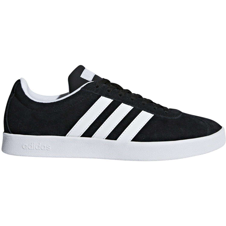 adidas Damen VL Court 20 Fitnessschuhe  42666666666666664|Schwarz (Negbas/Ftwbla/Aeroaz 000)