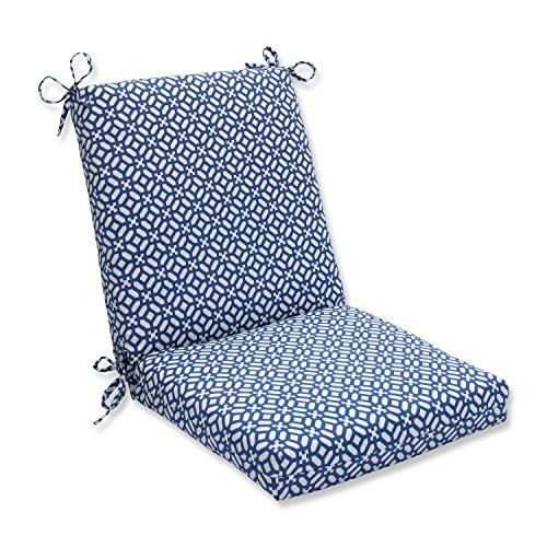 picture of Pillow Perfect Outdoor/Indoor in The Frame Squared Corners Chair Cushion, Sapphire