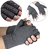 vinmax Arthritis Gloves, Cotton & Spandex Arthritis Rehabilitation Bumps Training Nursing Grip Gloves Open Finger Keep Hands Warm & Relieves Pain for Men & Women (Small)