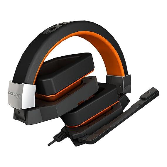 Ozone Blast oceloteWorld - Auriculares con micrófono (USB, PC/Juegos, Supraaural, 20-20000 Hz, Binaurale, Diadema): Amazon.es: Electrónica