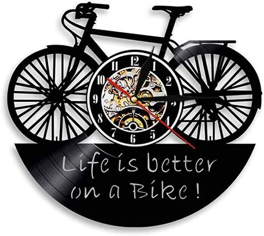 DFRTY 1 Pieza Bicicleta Ciclo diseño Vinilo Registro Reloj de ...