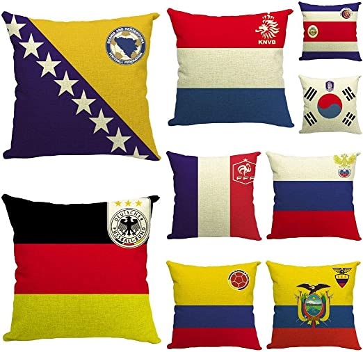 Xiang Ru - Juego de 9 Fundas de cojín (45 x 45 cm, diseño de Bandera Nacional de Reino Unido): Amazon.es: Hogar