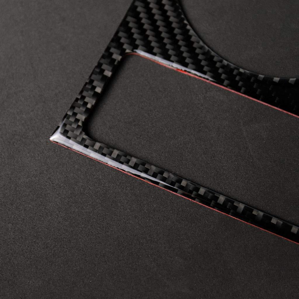 MagiDeal Carbon Fiber Cup Holder Decorative Cover Sticker Audi A5 A4 B8 2009-2015