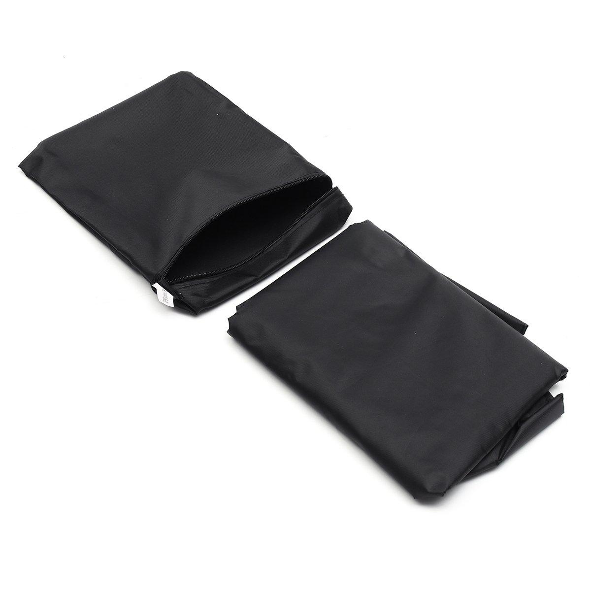 18'' X 32'' X 12'' X 110'' Parasol Umbrella Cover Black Oxford Polyester Rectangular Waterproof Durable  Outdoor Patio Garden Furniture Protection Protective Cloth Covering