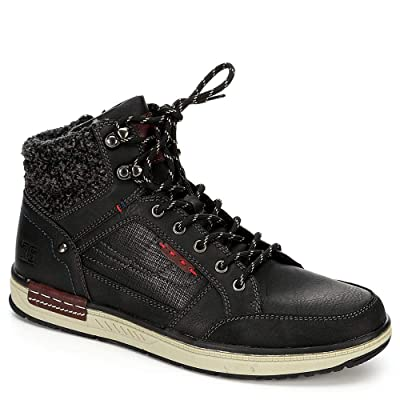 Day Five Mens Lace Up Mid Cut Sneaker Boot Shoes | Boots