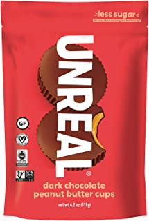 product image for UNREAL Dark Chocolate Peanut Butter Cups | Vegan, Gluten Free, Less Sugar | 3 Bags