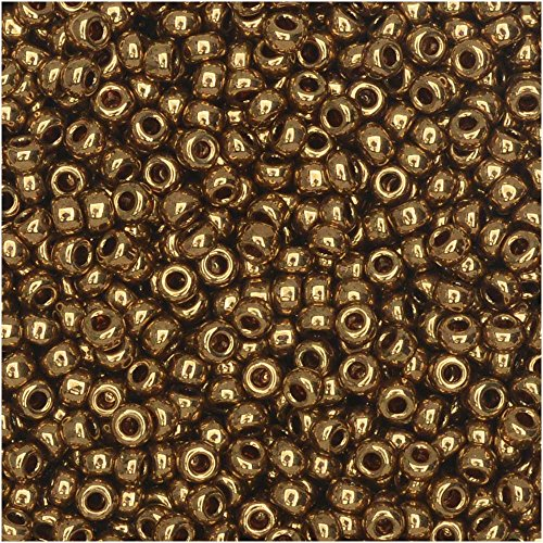 Metallic Light Bronze Miyuki Japanese round rocailles glass seed beads 11/0 Approximately 24 gram 5 inch ()