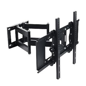 Lumsing Dual Articulating Arm Full Motion TV Wall Mount Bracket Tilt Swivel  for 27-70