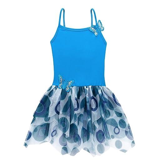 dbbc9481031b Amazon.com  iEFiEL Girls Camisole Butterfly Tulle Ballet Leotard ...