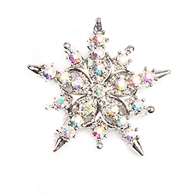 Perfect Amazon.com: VK Accessories Snowflake Brooch Pin Shiny Crystal Breastpin For  Xmas: Jewelry