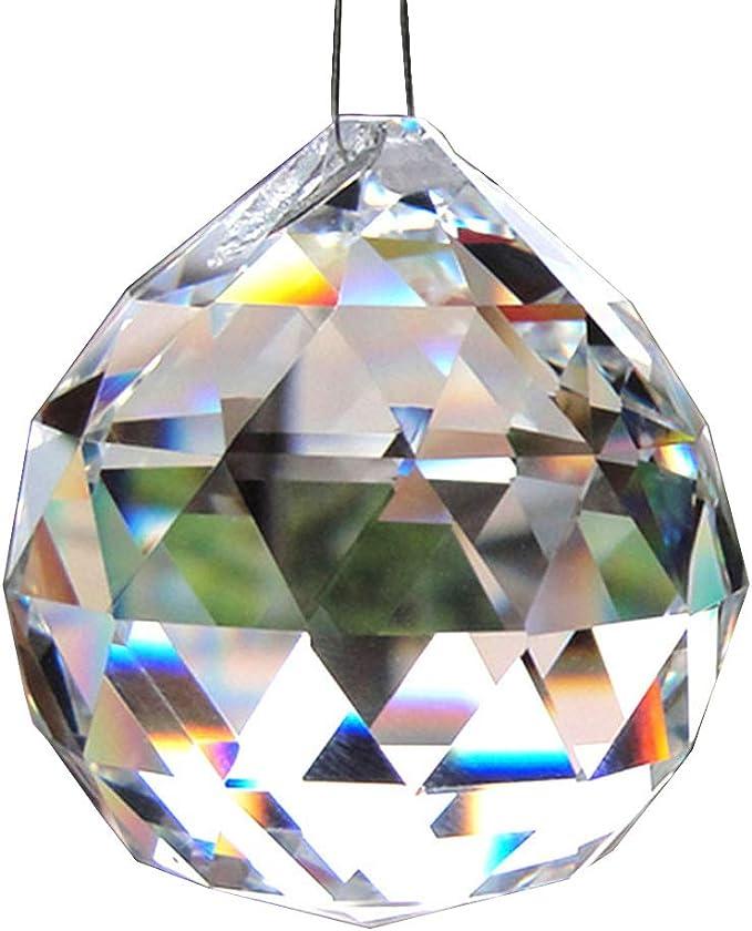 50PC Clear Octagon Beads Suncatcher Prism Chandelier Pendant Hanging Lamp Decor