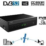 Crypto ReDi S100P DVBS2 Full HD Satelliten Receiver mit Media Player und USB für öffentliche Sender- externer Festplatten (HD's) Anschluss über USB 2.0, PVR-Ready ,Full HD HDMI SCART Dolby Digital LNB