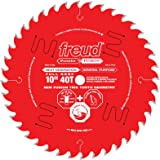 """Freud 10"""" x 40T Next Generation Premier Fusion General Purpose Blade for Crosscuts (3/8"""" to 3-1/2"""") & Rips (3/4"""" to 1-1/2"""") w"""