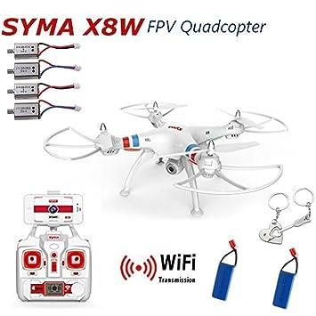 Blueskysea regalo libre + SYMA X8W WiFi Tiempo real Vídeo 2.4G 4 ...