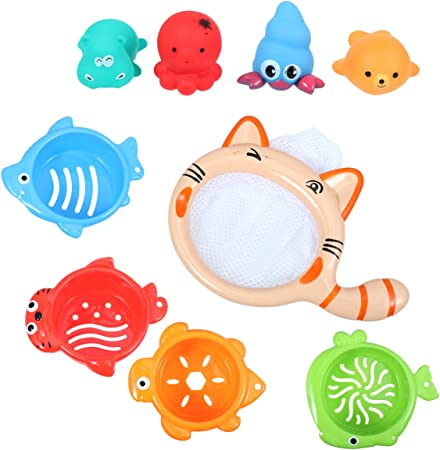 Amazon Toyandona 11ピース12 9センチ子供面白いカップ赤ちゃん風呂のおもちゃスタッキングタワー潮吹き風呂のおもちゃ動物風呂 おもちゃ用赤ちゃん早期教育 ベビーカー用おもちゃ おもちゃ