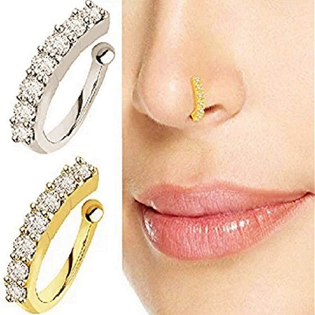 Buy S M Royal Presents Sania Mirza Style Nose Ring Without