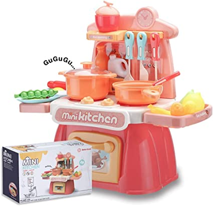 Amazon Com Wodtoizi Kids Cooking Toys Set Mini Kitchen Playset W Realistic Sounds And Lights Mini Chefs Pretend Play Dessert Food Assortment Set Party Role Play Toy Educational Birthday Boys Girls Children Toys