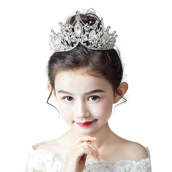Tiara Infantil Corona Tocado niña de Cristal Cumpleaños Gato ...