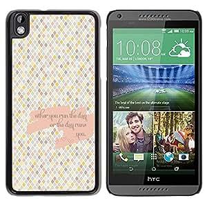 [Neutron-Star] Snap-on Series Teléfono Carcasa Funda Case Caso para HTC DESIRE 816 [A cuadros Patrón Azulejos cita del amor]