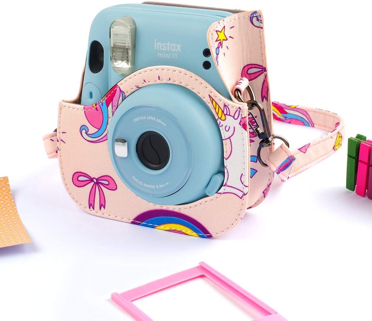 correa para el hombro y otros accesorios Funda y accesorios compatibles con c/ámara Fujifilm Instax Mini 11 Instant Polaroid filtros paquete incluye /álbumes