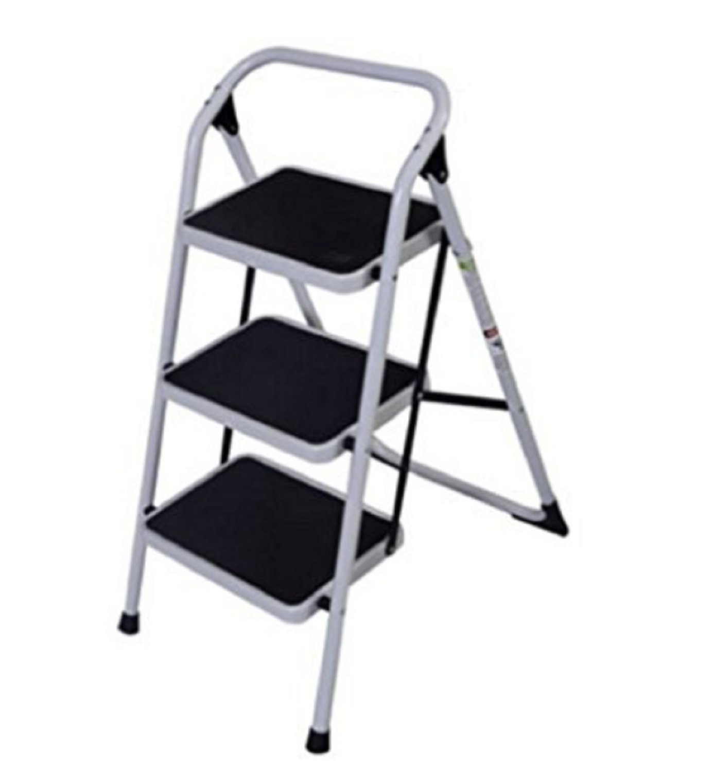 USA Premium Store 3 Step Lightweight Ladder HD Platform Foldable Stool 330 LB Cap. Saving Space by USA Premium Store